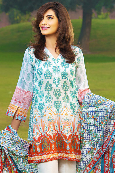 Sea Green 2 Pc Printed Lawn TL-71 B