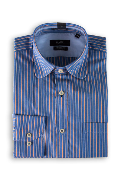 Blue Silver Classic Formal Shirt - CM-YD-1616 (CF)