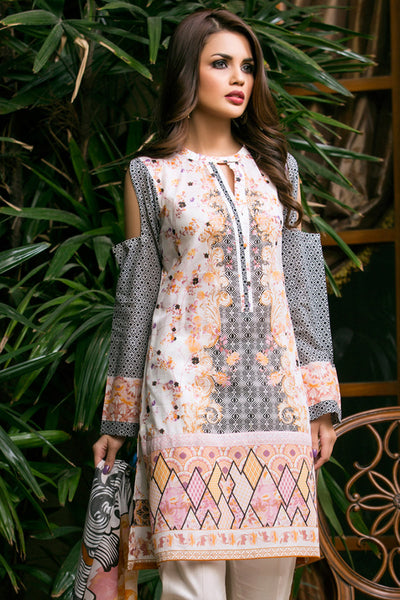 Cream 2 Pc Printed Lawn TL-75 A