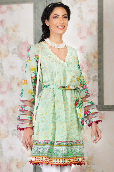 Light Green 1 Pc Embroidered Lawn Single SL-340