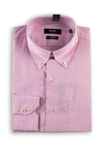 White & Pink Formal Shirt CM-YD-1847