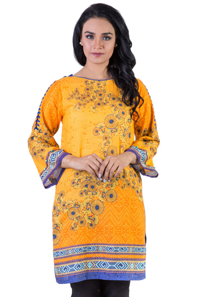 Yellow Tropical Amazon Digital Cambric Shirt GLW-16-025 DP