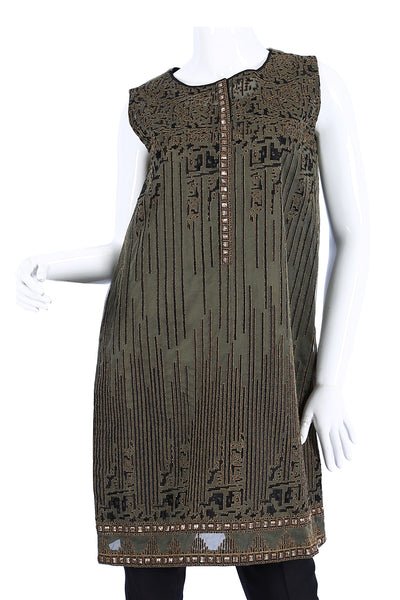 Grey 2 Pc Embroidered Dress GLAMOUR-16-36