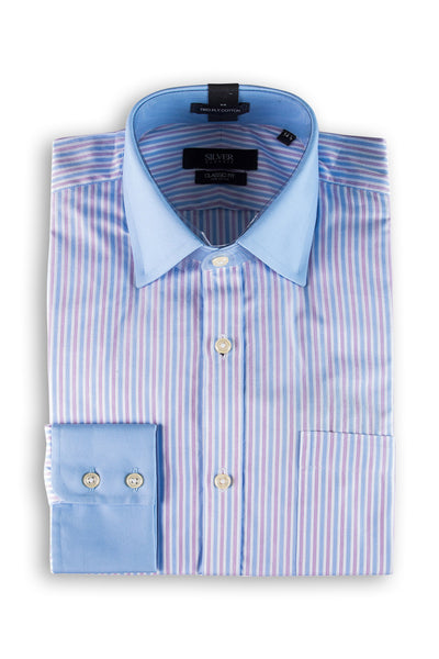 Sky Blue Silver Classic Formal Shirt - CM-YD-1617 (CF)