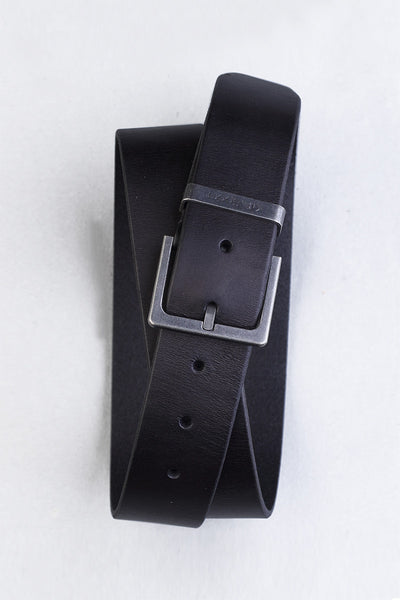 Black Leather Casual Belt GS_Belt_01