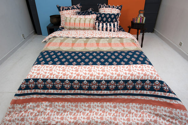 Coral Cloud T-150 Quilt Cover Set