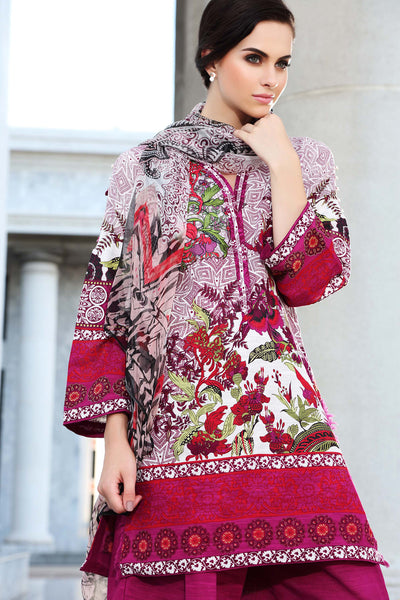 Purple Blended Embroidered Chiffon BMK-11