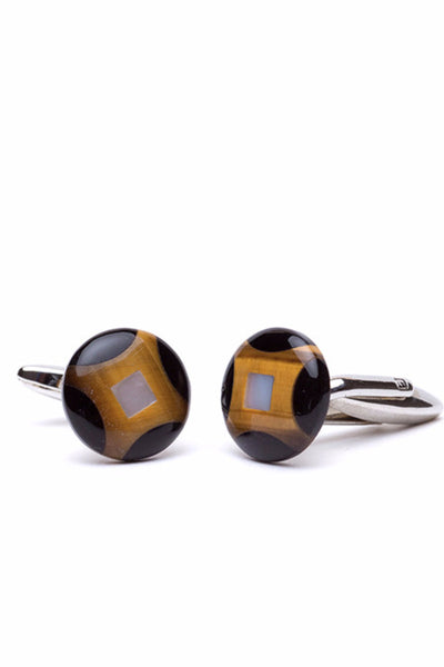 Black & Brown Cufflinks - B/R107