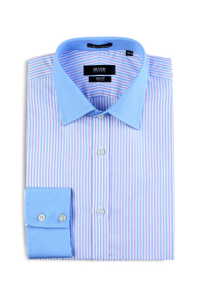 Blue Silver Classic Formal Shirt - CM-YD-1621 (SF)