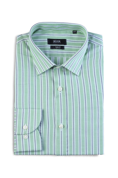 Green Silver Classic Formal Shirt - CM-YD-1637 (SF)
