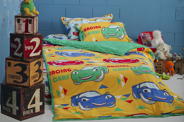 Cars T-150 Kids Quilt Cover Set