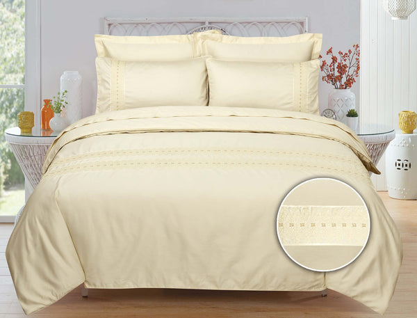 Cream Pearl T-400 Bed Sheet Set