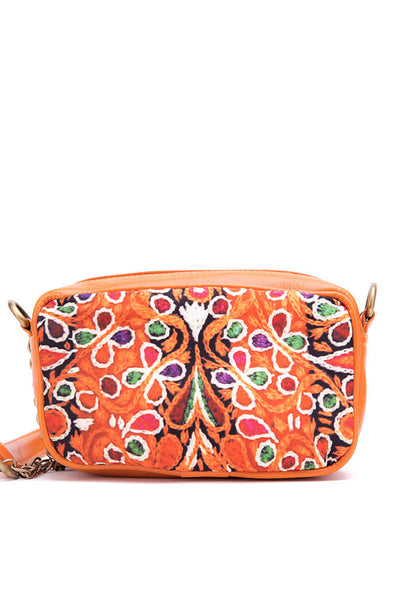 Folk Embroidery Digital Print Cross Body Bag - DSB-147