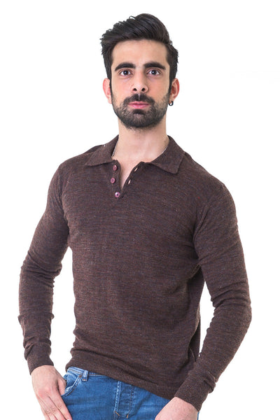 Brown Full Sleeves Sweater - FS-SWT-F-D16-3