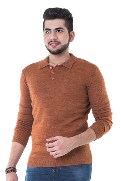 Rust Full Sleeves Sweater - FS-SWT-F-D16-5