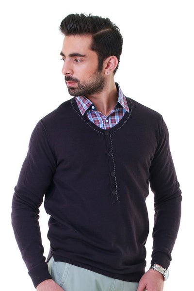Charcoal Full Sleeves Sweater - FS-SWT-F-D21-1
