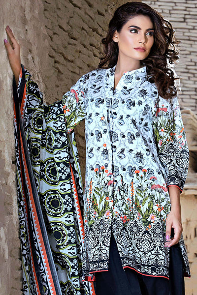 Black 3 Pc Printed Lawn EA-30 B