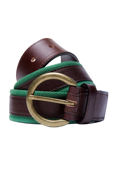 Brown Leather Casual Belt GA_BELT_10