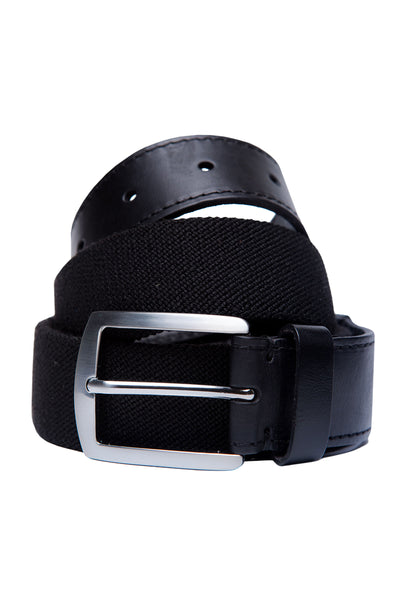 Black Leather Casual Belt GA_BELT_11-1