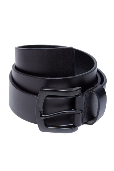 Black Leather Casual Belt GA_BELT_13