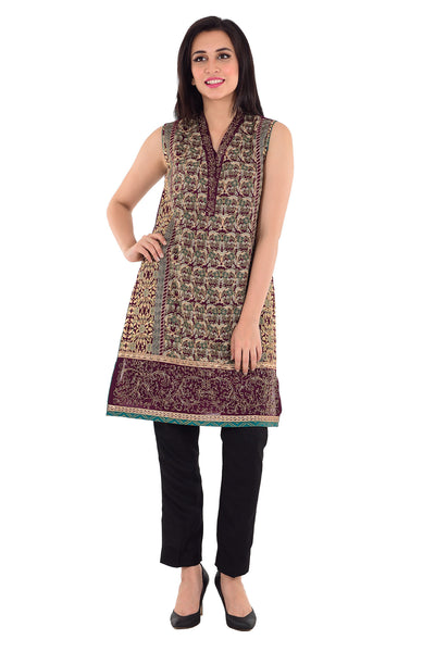 Maroon 2 Pcs Embroidered Dress GLAMOUR-16-06