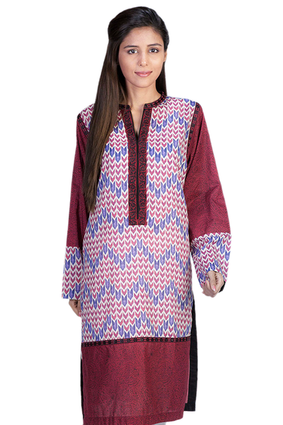 Maroon G-Woman Embroidered Kurti GLS-14-487