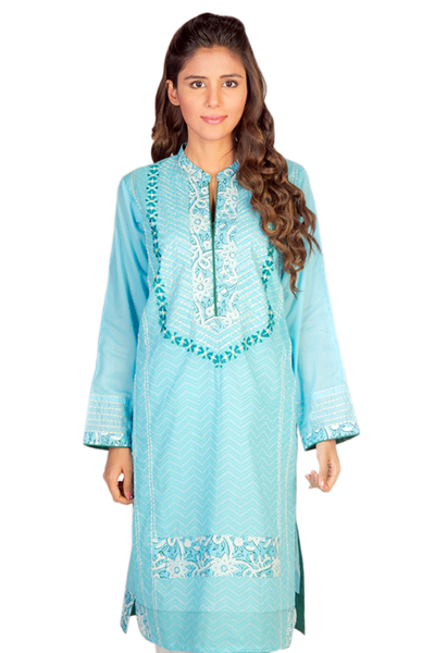 Sky Blue G-Woman Block Print Kurti GLS-14-530