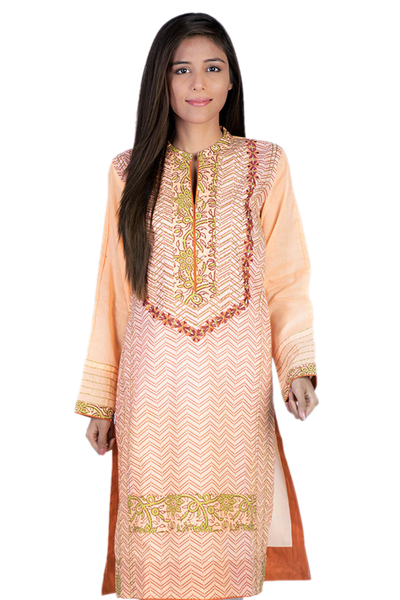 Orange G-Woman Block Print Kurti GLS-14-530