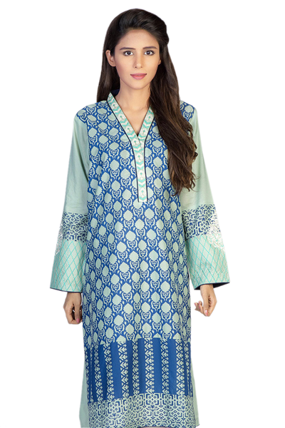 Blue G-Woman Embroidered Kurti GLS-14-572