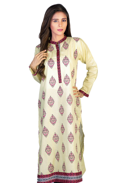 Off-white G-Woman Printed Kurti GLS-14-578