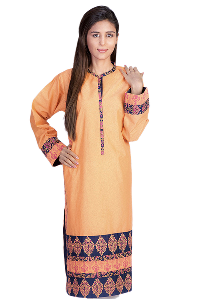 Orange G-Woman Block Print Kurti GLS-14-594