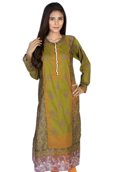 Green G-Woman Printed Kurti GLS-14-617