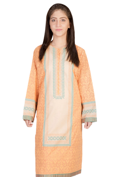 Orange G-Woman Block Print Kurti GLS-14-671