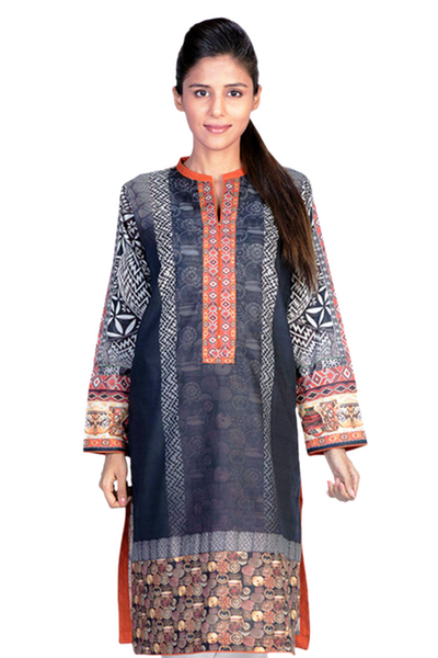 Black & White G-Woman Digital Print Kurti GLS-14-673