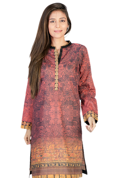 Red G-Woman Digital Print Kurti GLS-15-06