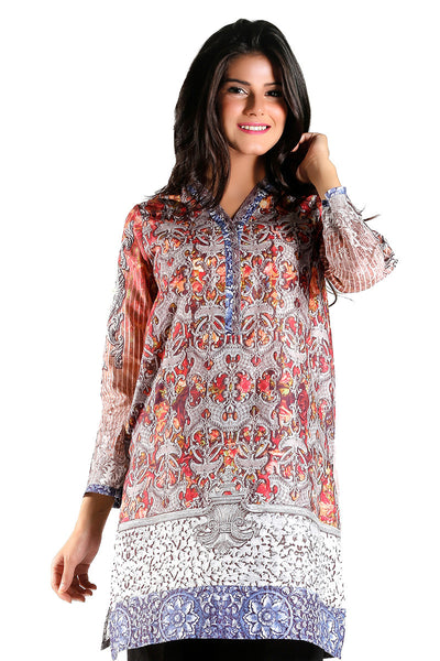 Grey Digital Print Kurti - GLS-15-167