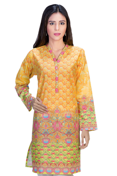 Yellow Digital Print Shirt GLS-15-069