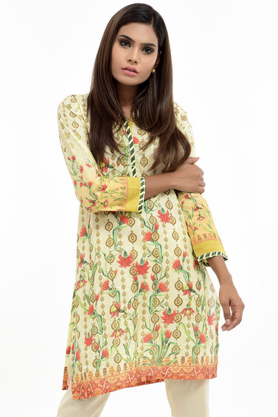 Yellow Digital Printed Lawn Shirt GLS-17-113 DP