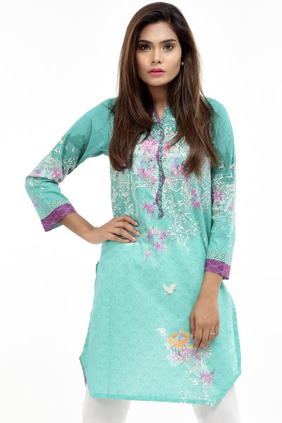 Sea Green Digital Printed Lawn Shirt GLS-17-116 DP