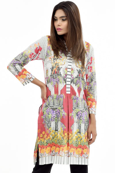 White Digital Printed Lawn Shirt GLS-17-082 DP