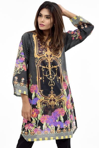 Black Digital Printed Lawn Shirt GLS-17-094 DP