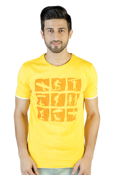 Yellow Graphic T-Shirt - JGP-D128-1