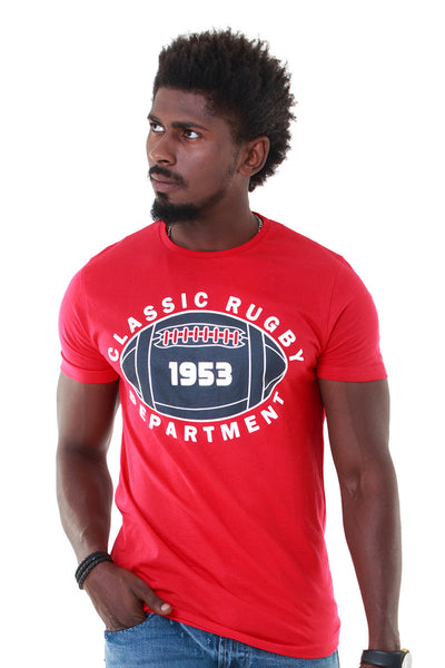 Red Basic Graphic Tee - JGP-D157