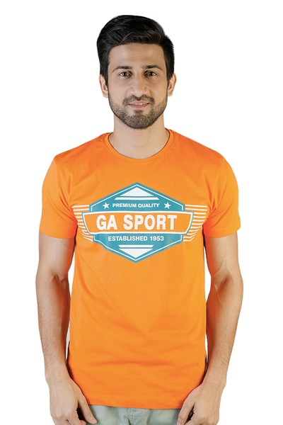Orange Graphic T-Shirt - JGP-D99-2