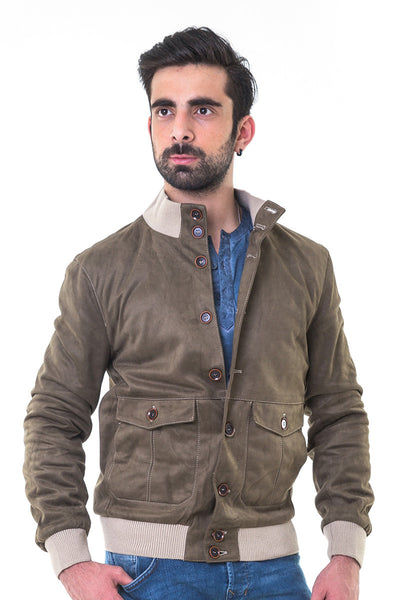 Military Green Mock Neck Jacket - JKT-MNB-D05-2