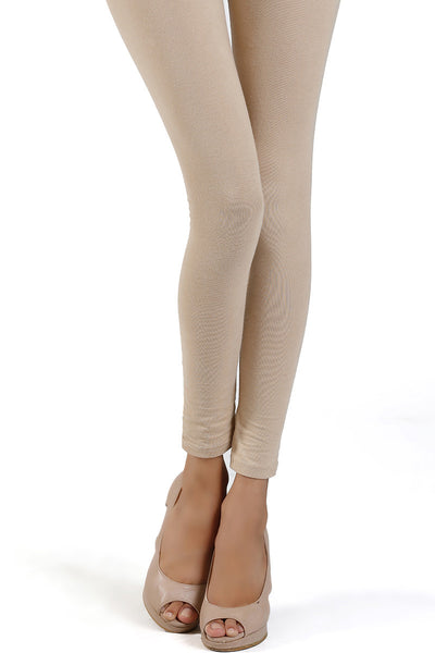 Beige Jersey Tights - TR-15-55