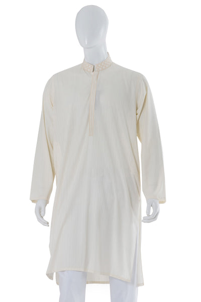 Off White Embroidered Kurta KE-1125 (RF)