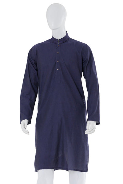 Navy Embroidered Kurta KE-1149 (RF)