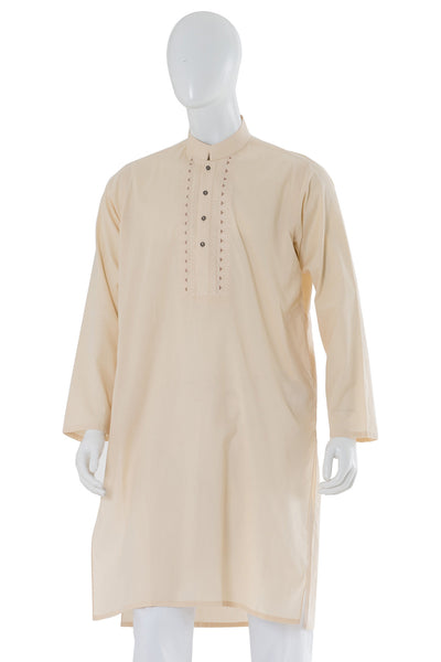 Peach Embroidered Kurta KE-1152