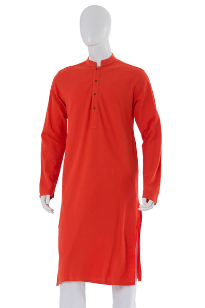 Orange Plain Knitted Kurta KP-1121 (SF)